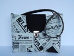 Newsprint Handbag