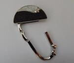 Black/silver handbag hook