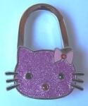 Pink cat handbag hanger